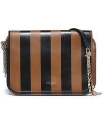 Nina Ricci - Striped Leather Shoulder Bag - Lyst