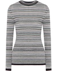 M.i.h Jeans - Moonie Striped Merino Wool-blend Sweater - Lyst