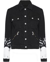 Versus - Painted Denim Jacket - Lyst