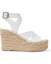 Sigerson Morrison - Arien Leather Espadrille Wedge Sandals - Lyst