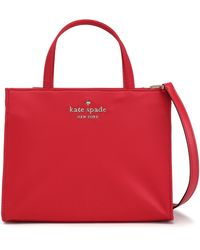 Kate Spade Leather-trimmed Shell Shoulder Bag Crimson - Red