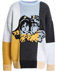 Fiorucci Intarsia Merino Wool Sweater Multicolour
