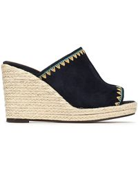 Castaner - Roberta Embroidered Suede Espadrille Mules - Lyst