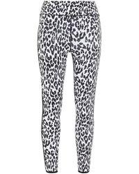 The Upside Leopard-jacquard leggings - White