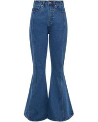 Solace London Severine High-rise Flared Jeans - Blue
