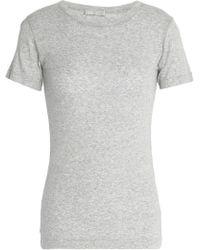 Vince - Pima Cotton Jersey Top - Lyst