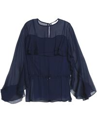 See By Chloé - Fluted Georgette Blouse - Lyst
