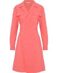Tomas Maier - Cotton-blend Poplin Wrap Dress - Lyst