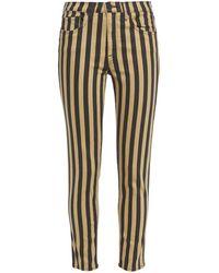 Nili Lotan Striped Mid-rise Slim-leg Jeans - Black