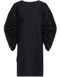 Rodebjer Elureta Gathered Cotton-poplin Mini Dress - Black