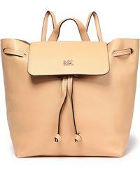 MICHAEL Michael Kors Junie Pebbled-leather Backpack Sand - Natural