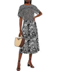 Hofmann Copenhagen Mirielle Floral-print Crepe Midi Skirt - Black