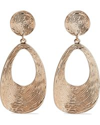 Kenneth Jay Lane - Gold-plated Earrings Gold - Lyst