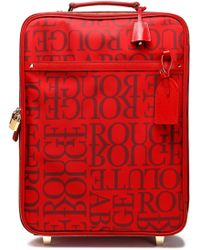 Valentino Garavani Leather-trimmed Printed Twill Suitcase - Red