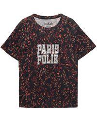 Ba&sh Yawl Printed Linen-jersey T-shirt - Black
