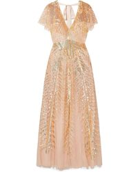 Temperley London Dusk Sequined Tulle Gown - Multicolour