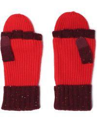 Rag & Bone - Two-tone Cashmere-blend Fingerless Gloves - Lyst