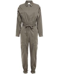 Gestuz Pintucked Organic Cotton Jumpsuit - Grey