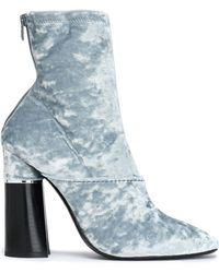 3.1 Phillip Lim - Kyoto Crushed-velvet Ankle Boots - Lyst