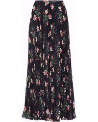 Vilshenko - Pleated Floral-print Georgette Midi Skirt - Lyst