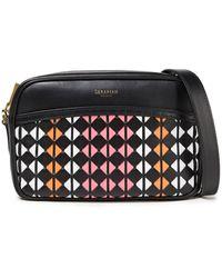 Serapian Mosaico Leather Shoulder Bag - Black