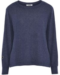 LNA - Woman Pier Brushed Stretch- Sweatshirt Navy - Lyst