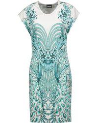 Just Cavalli - Printed Stretch-jersey Mini Dress - Lyst