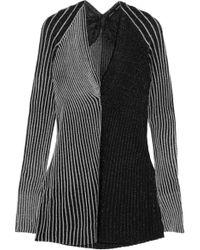 Proenza Schouler - Striped Metallic Ribbed-knit Top - Lyst