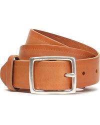 Rag & Bone - Boyfriend Embossed Leather Belt Light Brown - Lyst