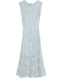 Miguelina - Belted Cotton Guipure Lace Coverup - Lyst