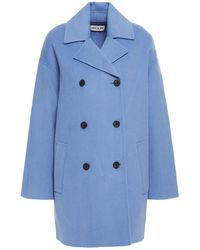 Paul & Joe Darius Double-breasted Wool And Cashmere-blend Felt Coat - Blue
