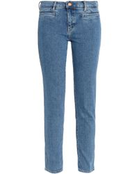 M.i.h Jeans - Paris Distressed Mid-rise Straight-leg Jeans - Lyst