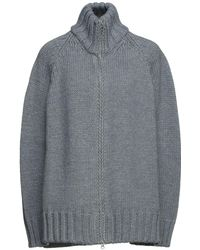 MM6 by Maison Martin Margiela Oversized Wool-blend Cardigan - Grey