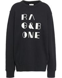 Rag & Bone Logo Print Sweatshirt - Black