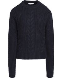 Carven - Cable-knit Wool-blend Jumper - Lyst