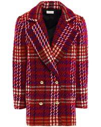 Ronny Kobo Devon Double-breasted Wool-blend Bouclé-tweed Blazer - Red