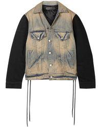 Amiri Oversized Panelled Denim Jacket - Blue