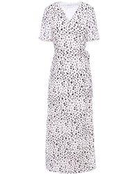 Iris & Ink Adeline Maxi-wickelkleid Aus Crêpe Mit Print Größe 12 - White