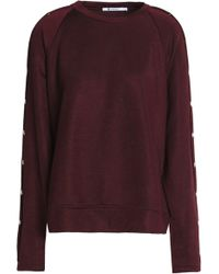T By Alexander Wang - Snap-detailed Terry Sweatshirt - Lyst