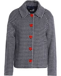 Love Moschino - Gingham Wool-blend Jacket - Lyst