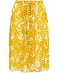 See By Chloé See by chloé rock aus spitze mit floralem print und raffung - Gelb