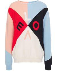 Chinti & Parker Color-block Intarsia Cashmere Sweater - Multicolour