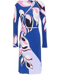 Emilio Pucci Printed Stretch-jersey Dress - Blue