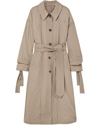 ROKH Oversized Cotton-gabardine Trench Coat Neutral - Natural