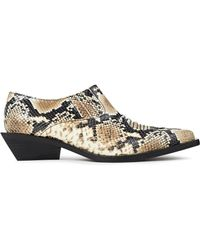 Rejina Pyo Dolores Snake-effect Leather Ankle Boots - Multicolour