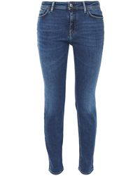 Acne Studios Climb Cropped Mid-rise Skinny Jeans Mid Denim - Blue