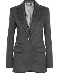 Paco Rabanne Wool-blend Felt Blazer Dark Grey
