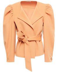 Ulla Johnson Maxine Belted Wool-felt Jacket - Multicolour