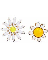 Elizabeth Cole - 24-karat Gold-plated Stone Earrings - Lyst