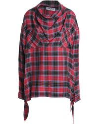 Opening Ceremony - Draped Checked Flannel Blouse - Lyst